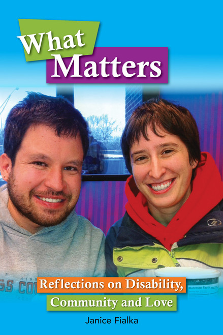 Cover image for What Matters with Micah and sister Emma Fialka-Feldman posing for a photo together
