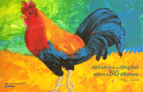 """Rambunctious Rooster"" painting"