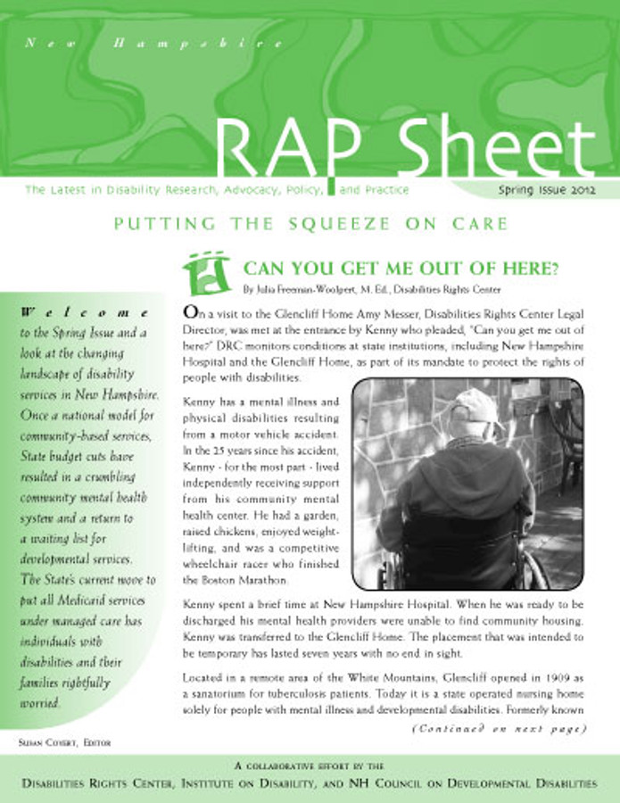 NH RAP Sheet Spring 2012: Putting the Squeeze on Care
