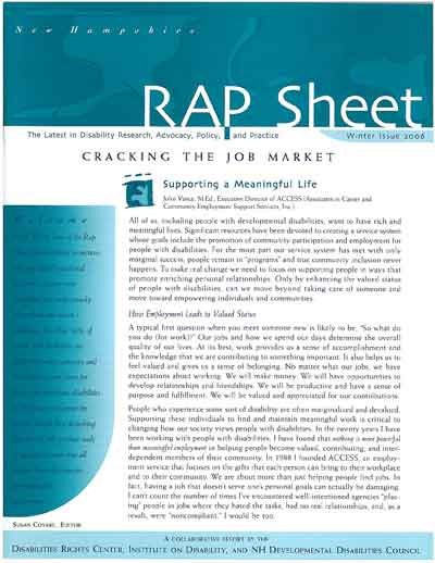 NH RAP Sheet Winter 2006: Cracking the Job Market - IOD