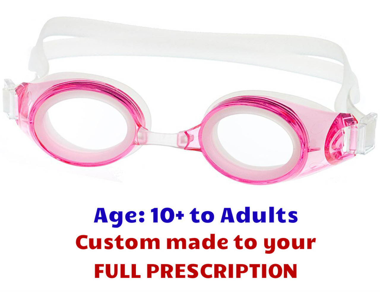 493352753b M2P Precription Swim Goggles Suitable for Ages 10 to Adults Pink