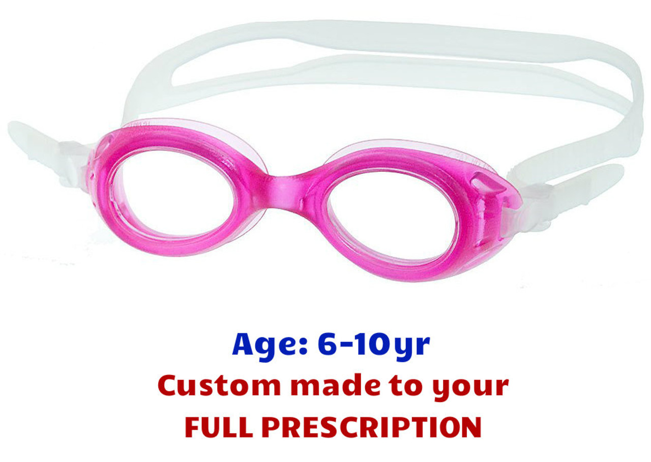 c40ab4f6d5 Kids Swim Goggles with Taylor Made Lenses S7 - Pink - Goggles n More