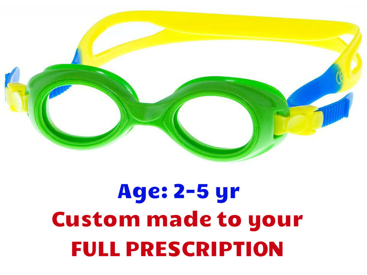 43ed25ad55 Custom made Kids Prescription Swim Goggles S37 Suitable for 2 to 6 Year Old  Kids