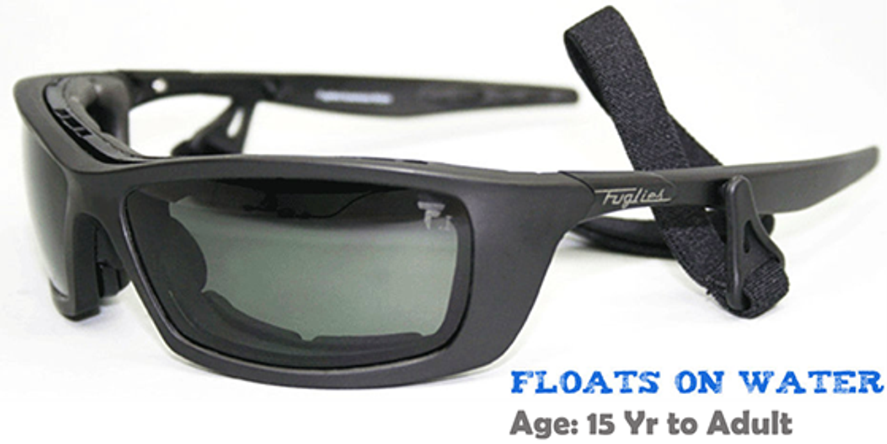 3bd076ecfda ...  Black  (Prescription Rx Lenses Available). Fuglies RX04 Sunglasses  shown with grey tinted demo lenses.