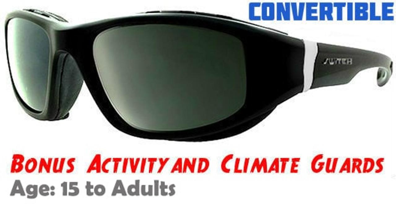 0e65557dc64 Liberty Sport Pathfinder - Shiny Black Wrap around Sunglasses ...