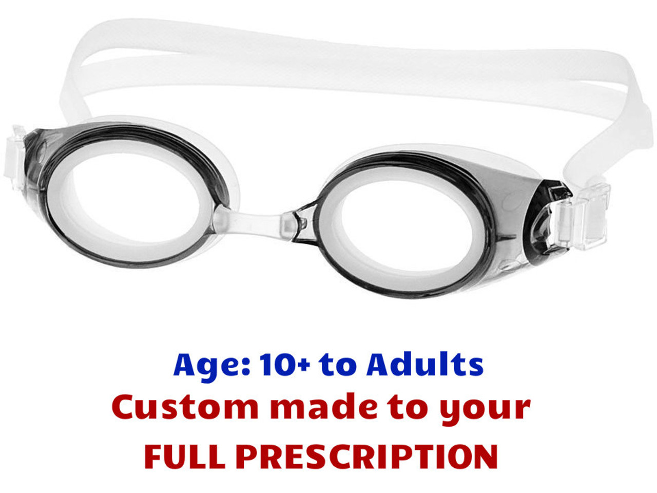 d8330fe1972 M2P Prescription Swim Goggles (Custom Made to Prescription) Grey ...