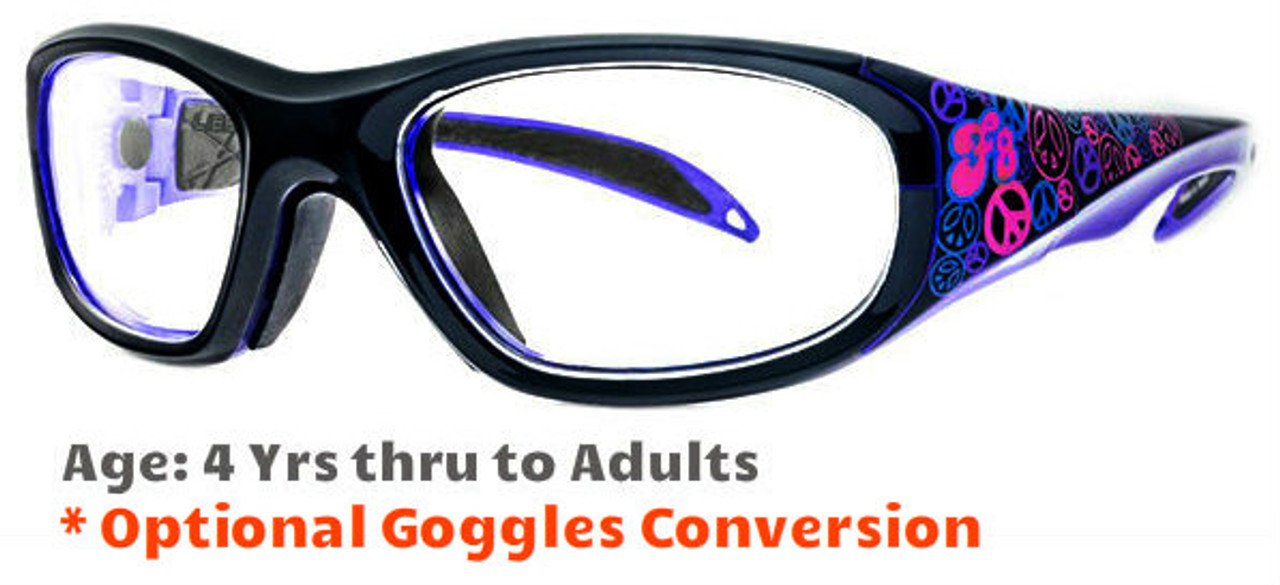 3f83e5a56d Prescription Sports Goggles Rec Specs F8 Street Series Peace   Luv Suitable  for Ages 4 to