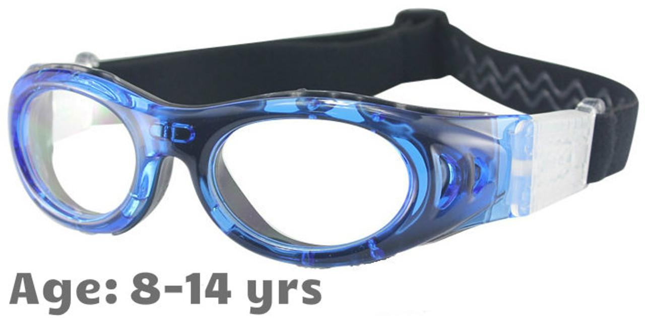 357150d69f4 M2P MP046 Rx-able Sports Glasses in Blue - Suitable for Ages 8-14. (1) M2P Kids  Prescription Sports Goggles ...