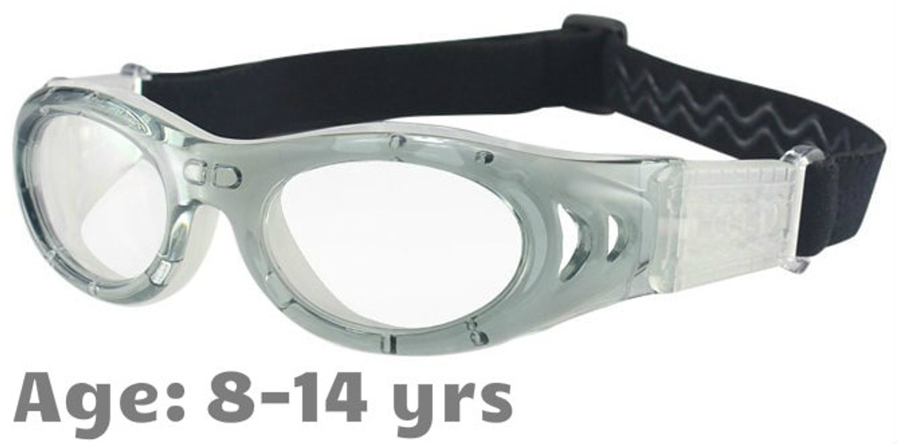 93c95ee5f41 M2P MP046 Rx-able Sports Glasses in Grey White - Suitable for 8-