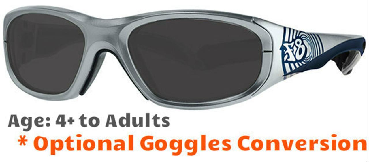 857b00cb04 Rec Specs F8 Street Series Bullseye Ripple Prescription Sunglasses Suitable  for Ages 4 to 12 Yr