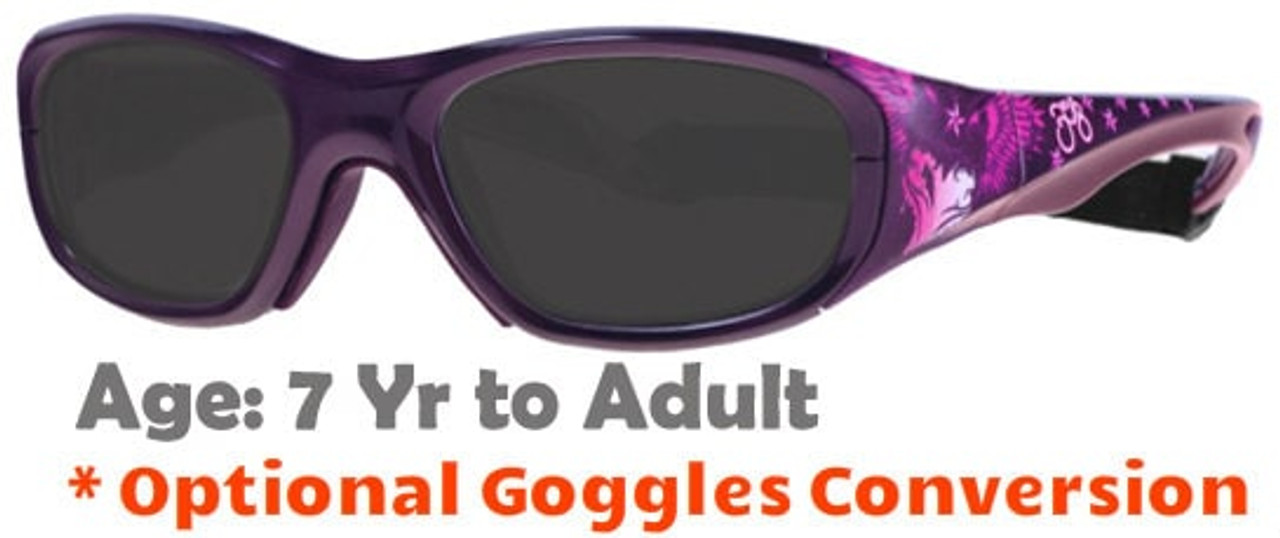 fbb6e7775c8 Rec Specs F8 Street Series Icarus Heart Prescription Sunglasses Suitable  for Ages 7 to Adult