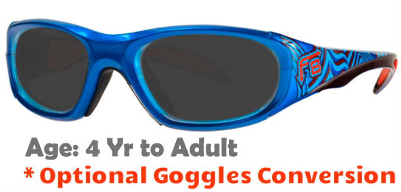 d11ba19917a  4+ yrs to Adults  Rec Specs F8 Street Series SUNGLASSES  Electric Wave -  48