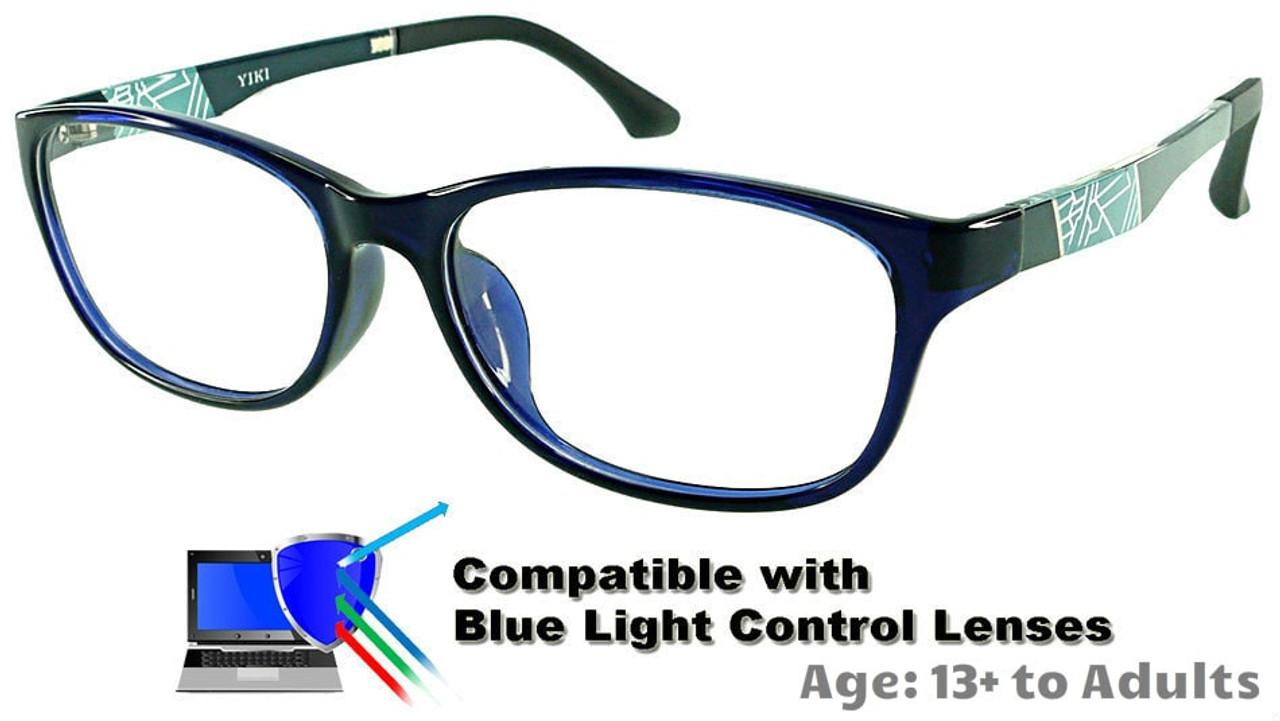 0a2ca096fa2c2 Austin - Black Glasses  Compatible with Optional Blue Light Control Lenses