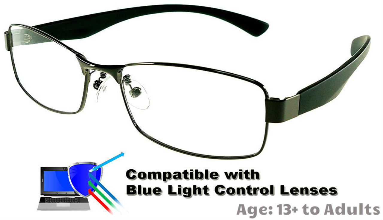c27a6851ebd Kingswood - Gunmetal Glasses  Compatible with Optional Blue Light Control  Lenses