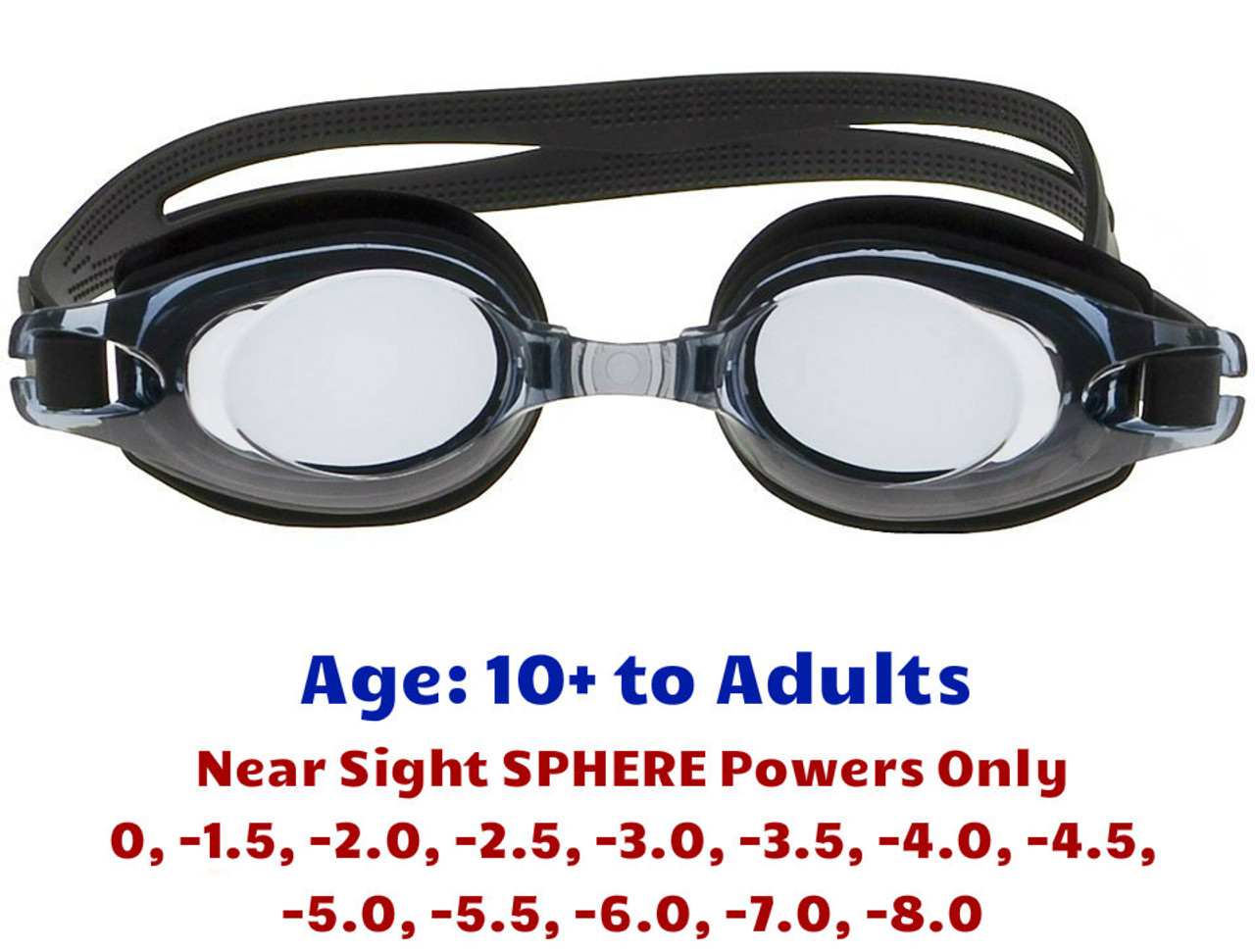 4afc68bf0b Prescription Swim Goggles for Short Sighted Adult and Teens ...