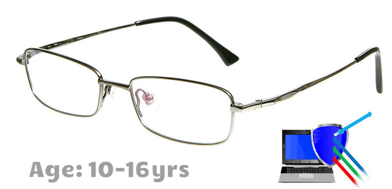 fd5b62aef3c9 Boston Silver Prescription Glasses Blue Light Blocking Lenses ...
