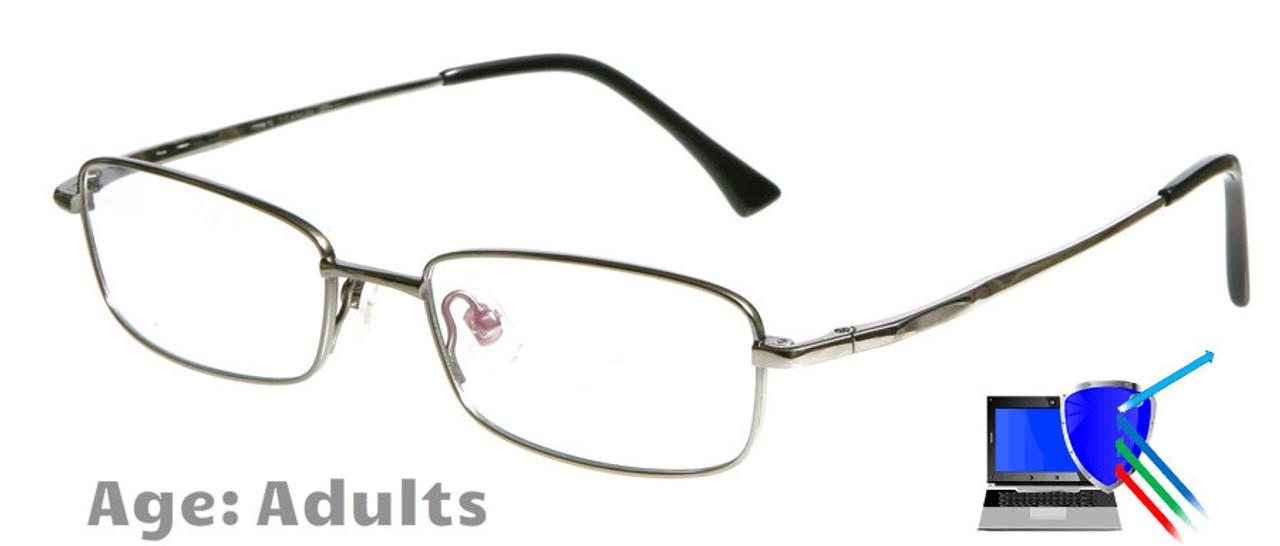 4d5e380768e5 [13+ to Adults] Dallas (Gunmetal) - Titanium Prescription Glasses (Blue  Light Control Lenses Available)