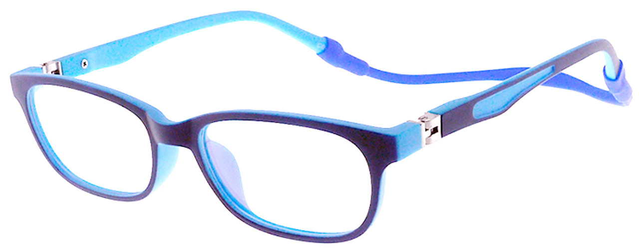 Kids Blue Light Blocking Glasses Silicone Flexible Round Eyeglasses Frame with Glasses Rope for Children Age 3-12