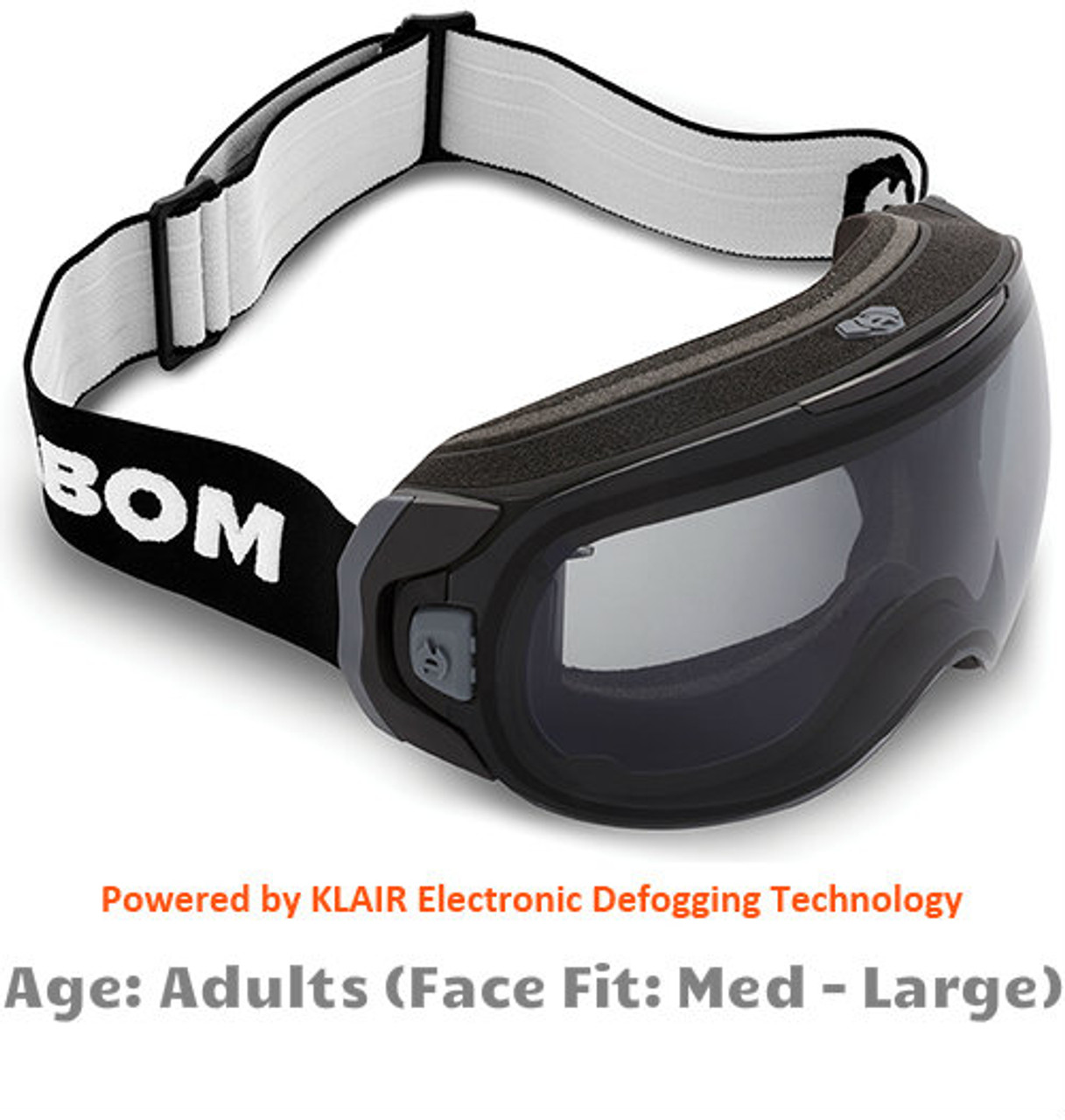 9fdfb81de3e Abom One Xray Grey Snow Goggles - Adult Sized Medium to Large Face Fit