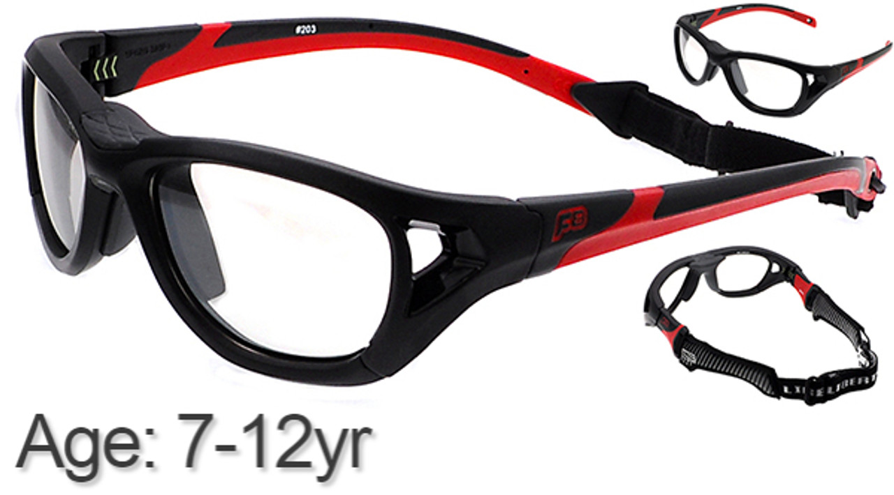 45e77c1976a1  7-12 yrs  Rec Specs Sport Shift Sports Glasses   Goggles ASTM  Black Red -  52 Size