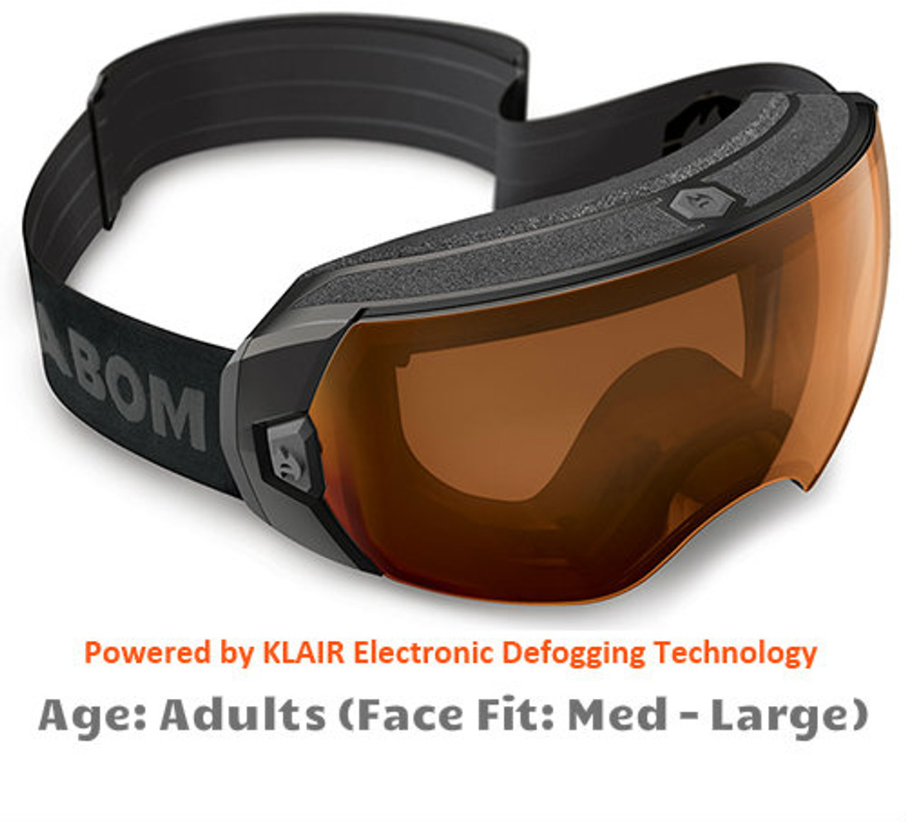 046e1c5ef948 Abom Heet Copper Dome Snow Goggles - Adult Sized Medium to Large Face Fit