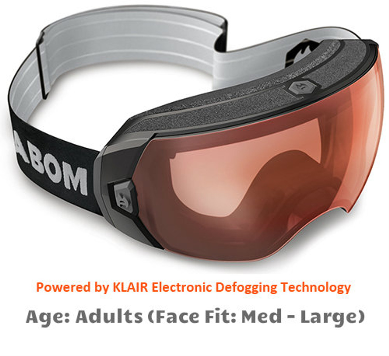 7a1ef18e89e Abom Heet Resolution Red Snow Goggles - Adult Sized Medium to Large Face Fit