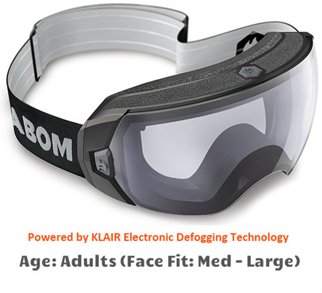 02c5d0b561f4 Abom Heet Clear Snow Goggles - Adult Sized Medium to Large Face Fit