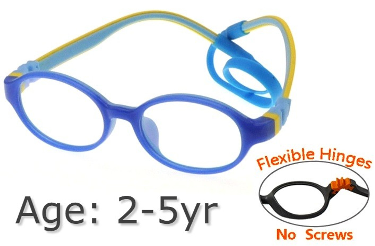 Student Glasses Frame Size 46 Bendable Flexible Children Eyeglasses Legs Silicone Tr90 Kids Glasses Frame Optional High Quality And Inexpensive Sunglasses Girls' Clothing