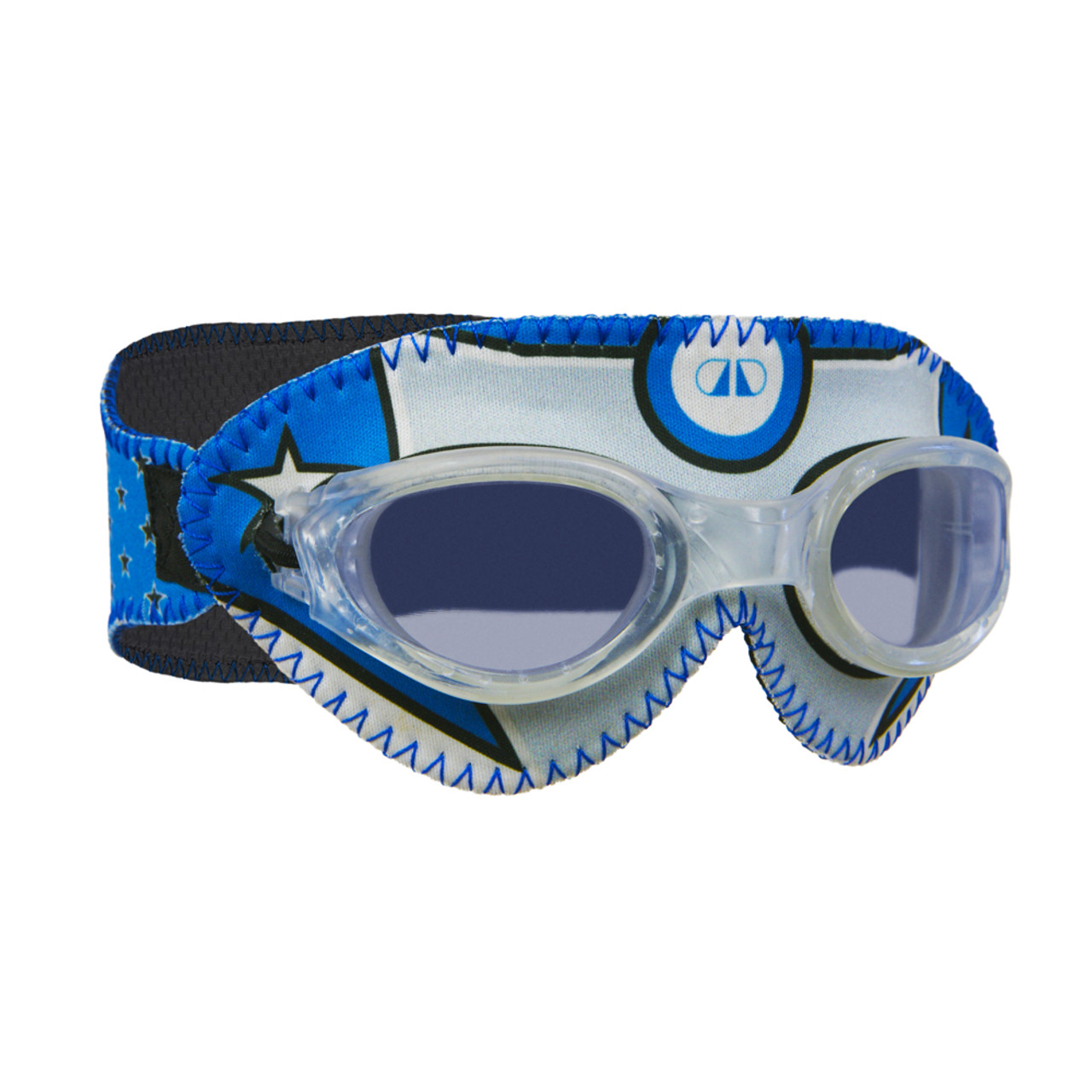 2f1840fc3451 (1) Giggly Goggles Silver Star Hero Kids Swim Goggles with Clear Lenses (3yr