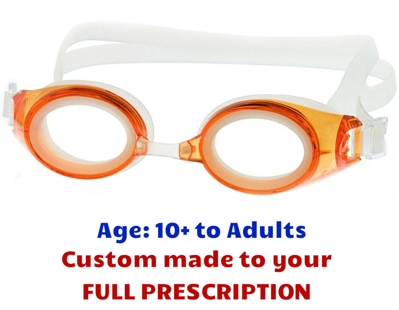ece14f0fa8 M2P Orange Prescription Swim Goggles Suitable for Ages from 10 Years to  Adult