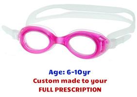 4e9d850db2 S7 Kids Prescription Swim Goggles in Pink custom made