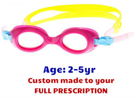 fc311b08dafc Toddler Pink Prescription Swim goggles S37 for 2 to 6 Years