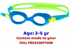 738501a82f61 Custom made Blue S37 toddler prescription swim goggles for 2-5 years kids