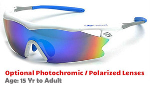 cd964f082e8b F Morys MS038 Rx-Able Sports Sunglasses - White with Blue Mirrored Lenses
