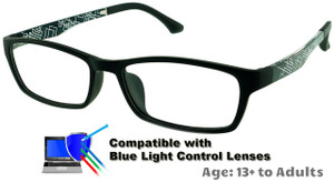 aab8dd67463  13+ to Adults  Techno (Black) - Prescription Glasses (Blue Light Control Lenses  Available)