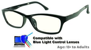 0b7c65c7cd1d8 Rodessa - Black Glasses  Compatible with Optional Blue Light Control Lenses
