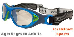 4d1aa7d1a8 Rec Specs F8 Helmet Spex Prescription Sports Goggles in Matte Electric Blue