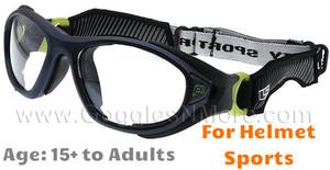 b44cd4540949a Rec Specs F8 Helmet Spex XL Prescription Sports Goggles in Matte Navy Green
