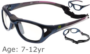 9eea4459cc  7-12 yrs  Rec Specs Sport Shift Sports Glasses   Goggles ASTM  Shiny Navy  Blue - 52 Size