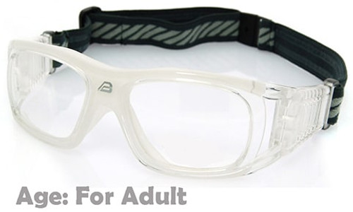 91840c1b1f7 Prescription Sports Goggles BL019 Clear   White 140mm Frame Width Suitable  for Adults