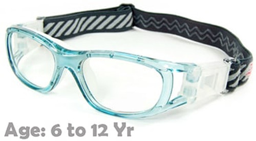 2e55779bd3 Kids Prescription Sports Goggles BL016 Blue Suitable for Ages 6 to 12 Years