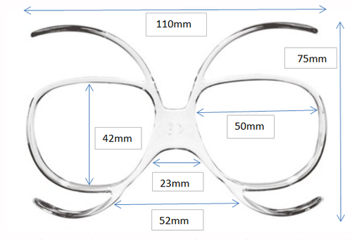 Universal Goggles Insert (Prescription Lenses Available) for Ski  Goggles/Snow Boarding Goggles/Motorcycle Goggles/Motocross Goggles