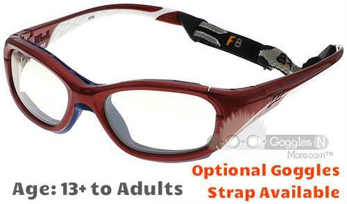 a753e248fc9 Rec Specs F8 Slam Patriot XL Prescription Sports Glasses Shiny Crimson