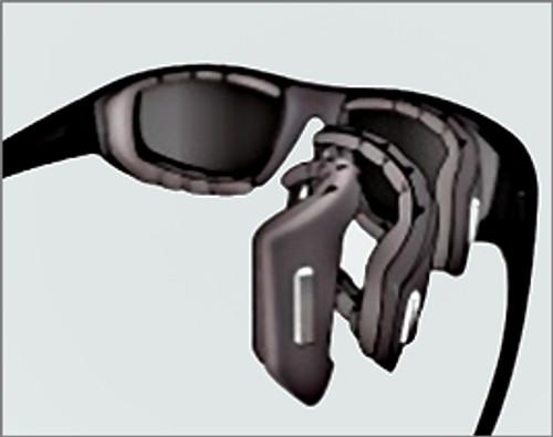 8baa466390e ... Prescription Sports Sunglasses in Shiny Black  Liberty Sport