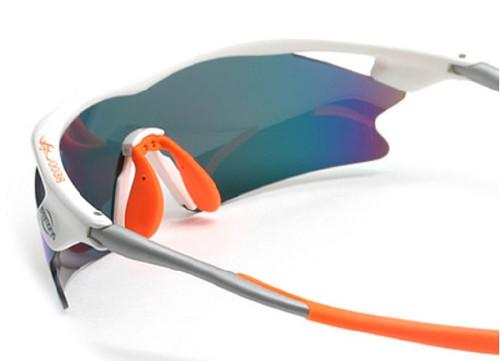 76c508e4b77 F. Morys MS038 White Orange Sporty Rx Prescription Wrap Around ...