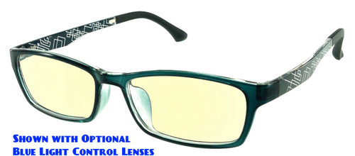 ec163407b06 ... Techno - Grey Prescription Glasses with Optional Blue Light Control  Lenses Fitted ...