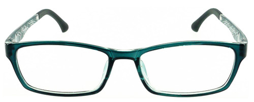 57cfdb8447a ... Techno - Grey Prescription Glasses - Front View · Techno - Grey Glasses   Compatible with Optional Blue Light Control Lenses