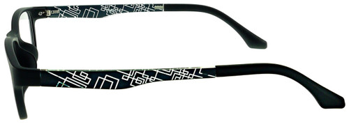 e4914158685 ... Optional Blue Light Control Lenses Fitted  Techno - Black Prescription  Glasses - Side View ...