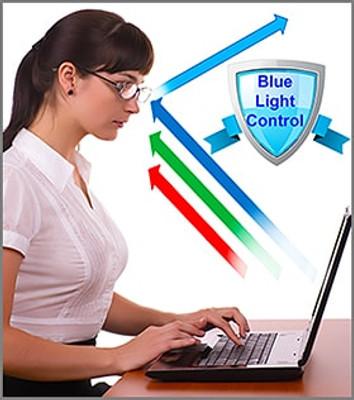 f8a982809da38 ... Blue Light Blocking Lenses (Optional) · Austin - Black Prescription  Glasses with Optional Blue Light Control Lenses Fitted ...