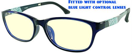 17a0f1ddc5646 ... Austin - Black Prescription Glasses with Optional Blue Light Control  Lenses Fitted ...